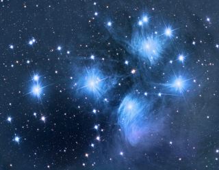 Pleiades Star Cluster Wittich night sky photo
