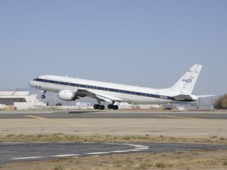 NASA's DC-8 will soon fly over Canadian snow storms.