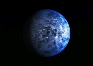 Glass rain exoplanet
