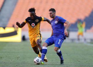 Bradley Grobler challenged by Philani Zulu