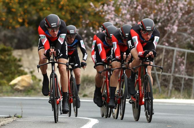 BMC Racing on the way to victory in stage 3 of the Volta a la Comunitat Valenciana