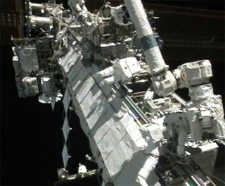 Record-Setting Spacewalk at Space Station Falls Short on Repairs