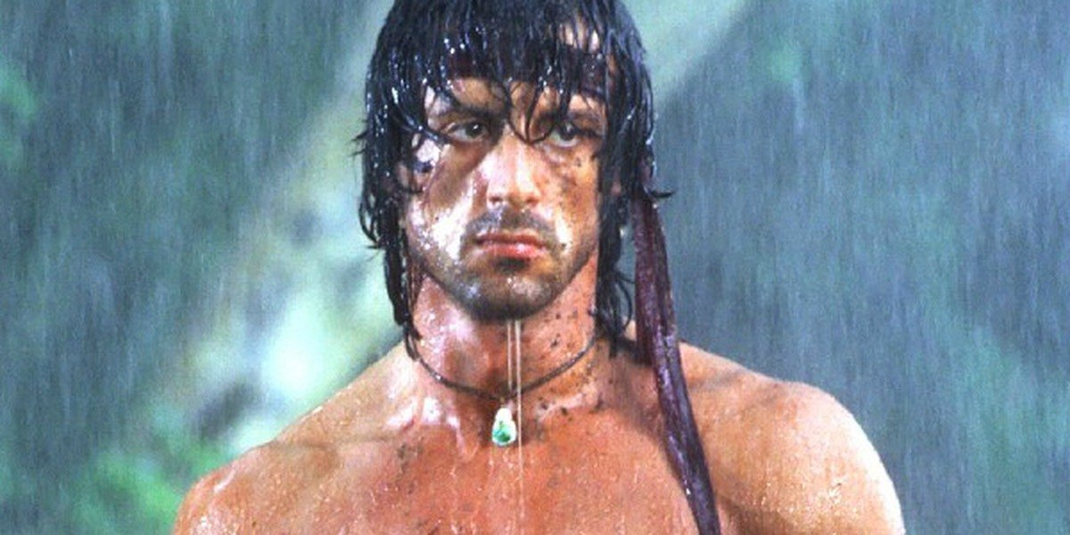 John Rambo (Sylvester Stallone) in First Blood (1982)