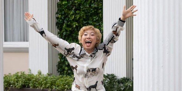Awkwafina as Peik Lin in Crazy Rich Asians