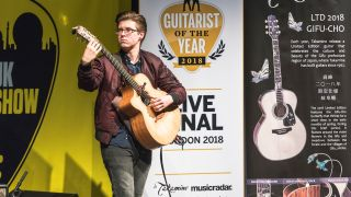 Acoustic Guitarist of the Year 2018 winner Alexandr Misko performing live at the UK Guitar Show