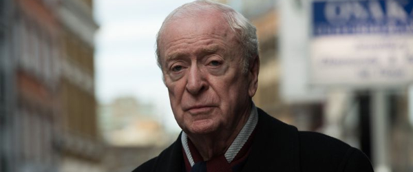 King Of Thieves Michael Caine looking dour on the streets of London