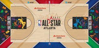 NBA-HBCU All-Star Game Court