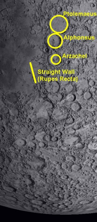 The Moon's Great, Straight Wall Gets Solar Spotlight