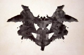 What do you see when you look at this inkblot, part of the Rorschach test?
