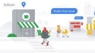 Teckning av Google Maps som visar nya funktioner