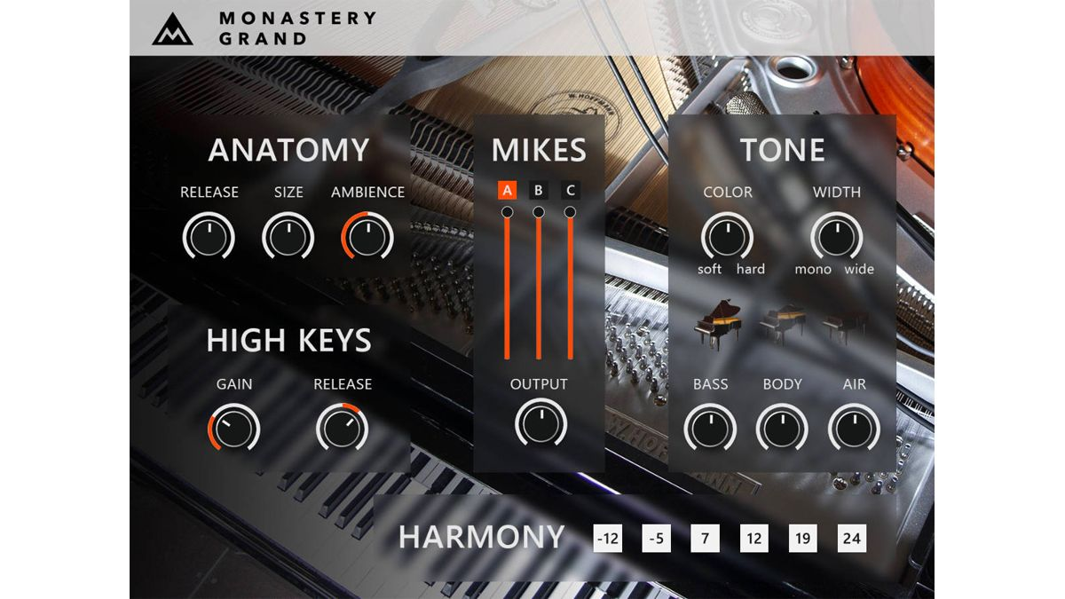 MeldaProduction's MonasteryGrand is a free multi-gigabyte piano for your DAW