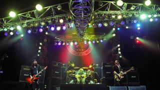 Motorhead playing live at Hammersmith Apollo with the bomber