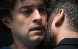 Holby Isaac Mayfield (Marc Elliott) and Lofty (Lee Mead)