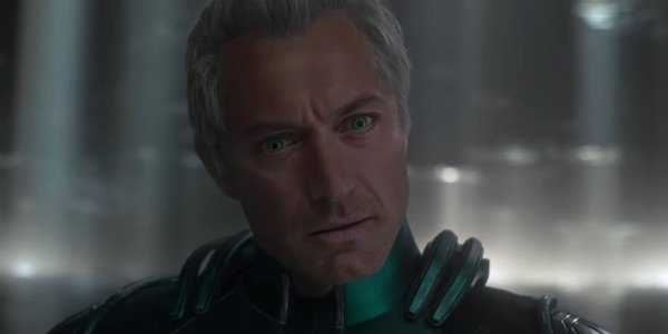 Jude Law as Supreme Intelligence in Captain Marvel