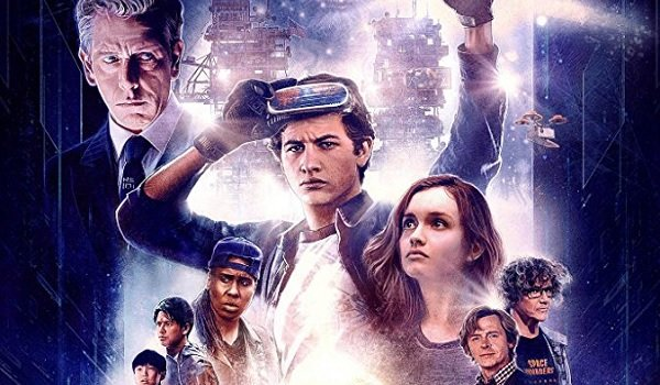 Ready Player One Ben Mendelsohn Ty Sheridan Lena Waithe Simon Pegg Mark Rylance nostalgic poster art