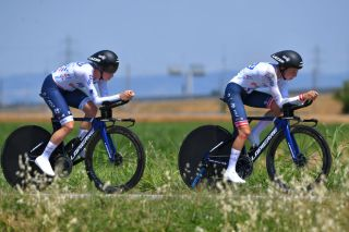 Cecilie Uttrup Ludwig (FDJ Nouvelle Aquitaine Futuroscope) in the team time trial at Giro d'Italia Donne
