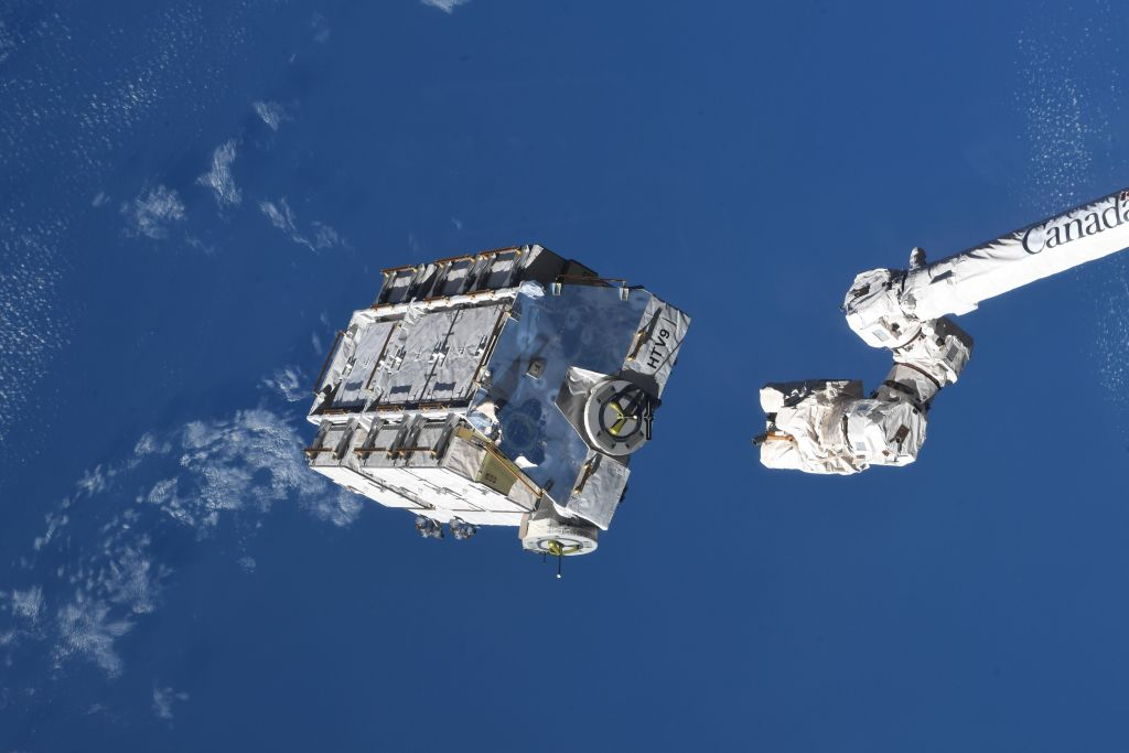 Space station tosses 2.9-ton hunk of space junk overboard. It will stay in orbit for years.