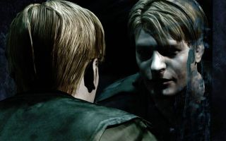 Silent Hill 2's James Sunderland looks at himself in the mirror