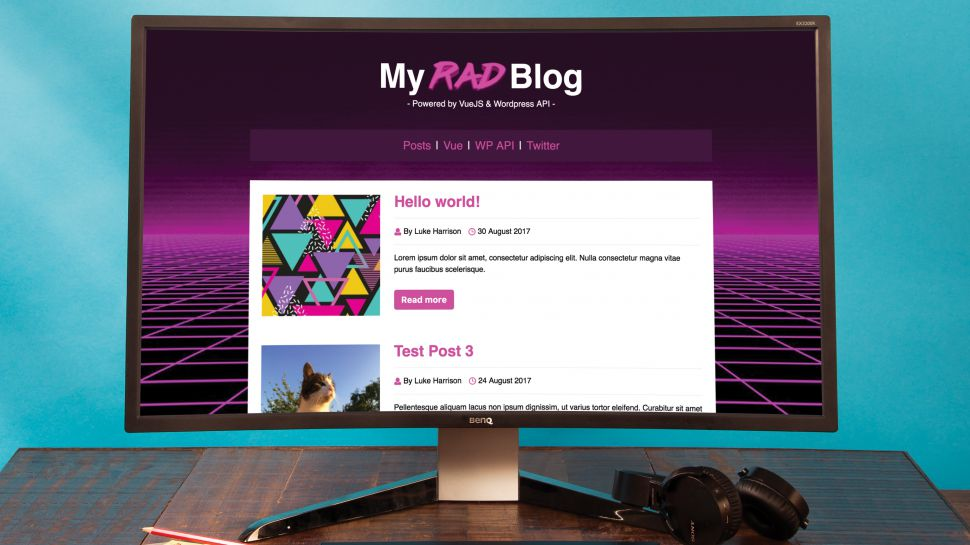 WordPress tutorials:  Power a blog using the WordPress API