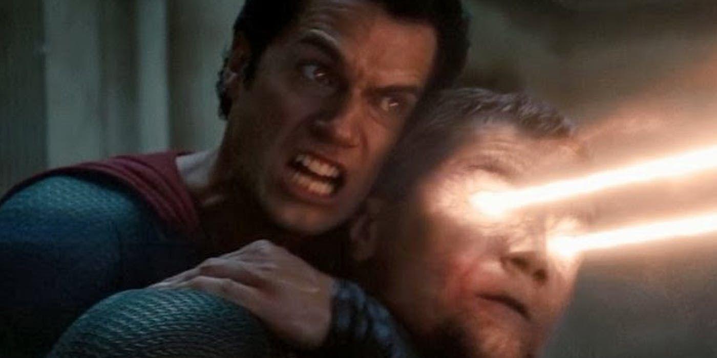 Man of Steel Superman holding General Zod in a head lock