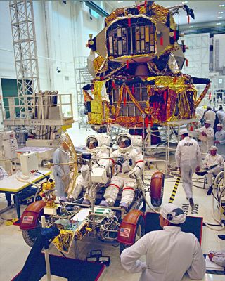 space history, Apollo 17, Lunar Module, NASA