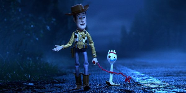 Forky In Toy Story 4 2019 with Woody