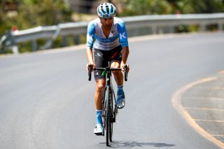 Israel Start-Up Nation's James Piccoli goes on the attack in the last three kilometres of the final climb