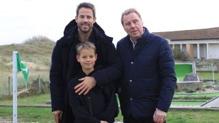 Harry Redknapp with his son Jamie on Harry Redknapp's Sandbanks Summer.