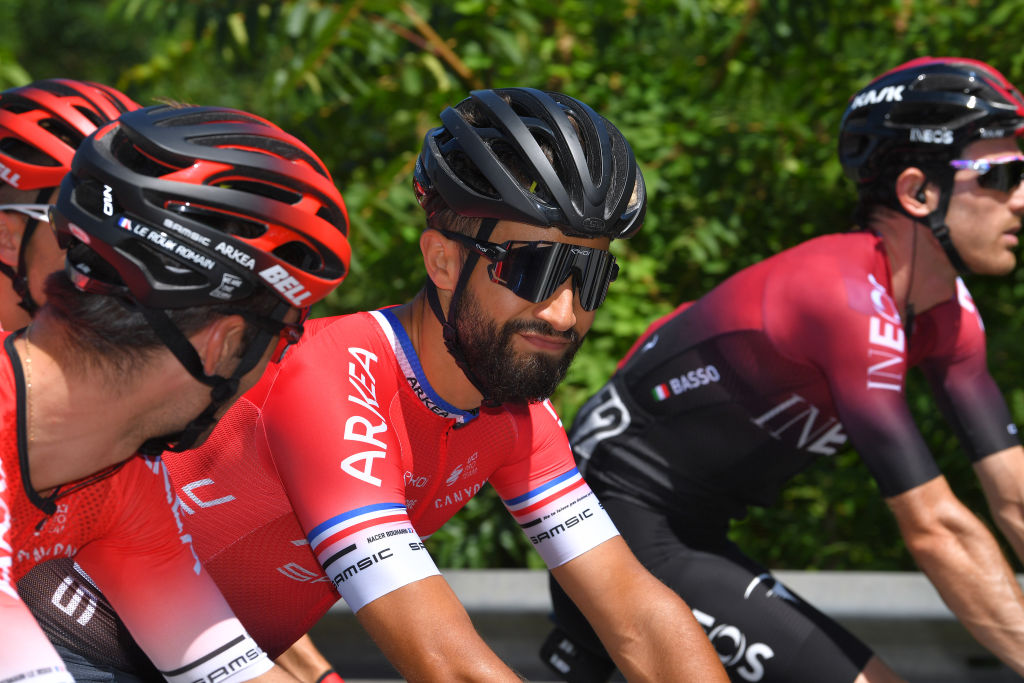Nacer Bouhanni of France and Team Arkea Samsic during the 101st Milano Torino 2020 a 198km race from Mesero to Stupinigi Turin MilanoTorino on August 05 2020 in Stupinigi Turin Italy Photo by Tim de WaeleGetty Images