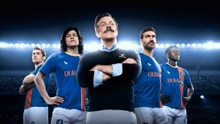 Ted Lasso season 2's cast including Jason Sudeikis, Brett Goldstein and Cristo Fernandez