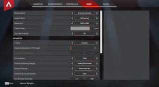 Best vsync option apex legends