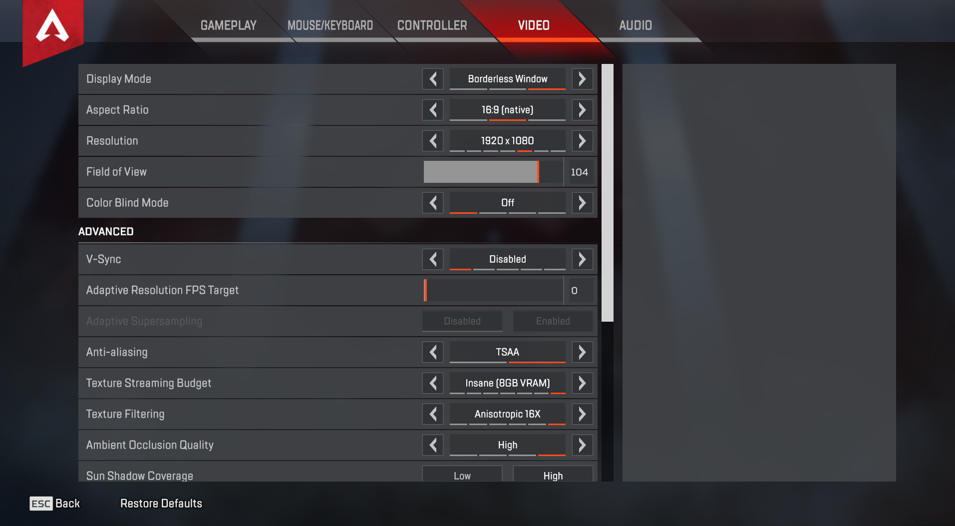 Best Apex Legends settings - How to get the best performance