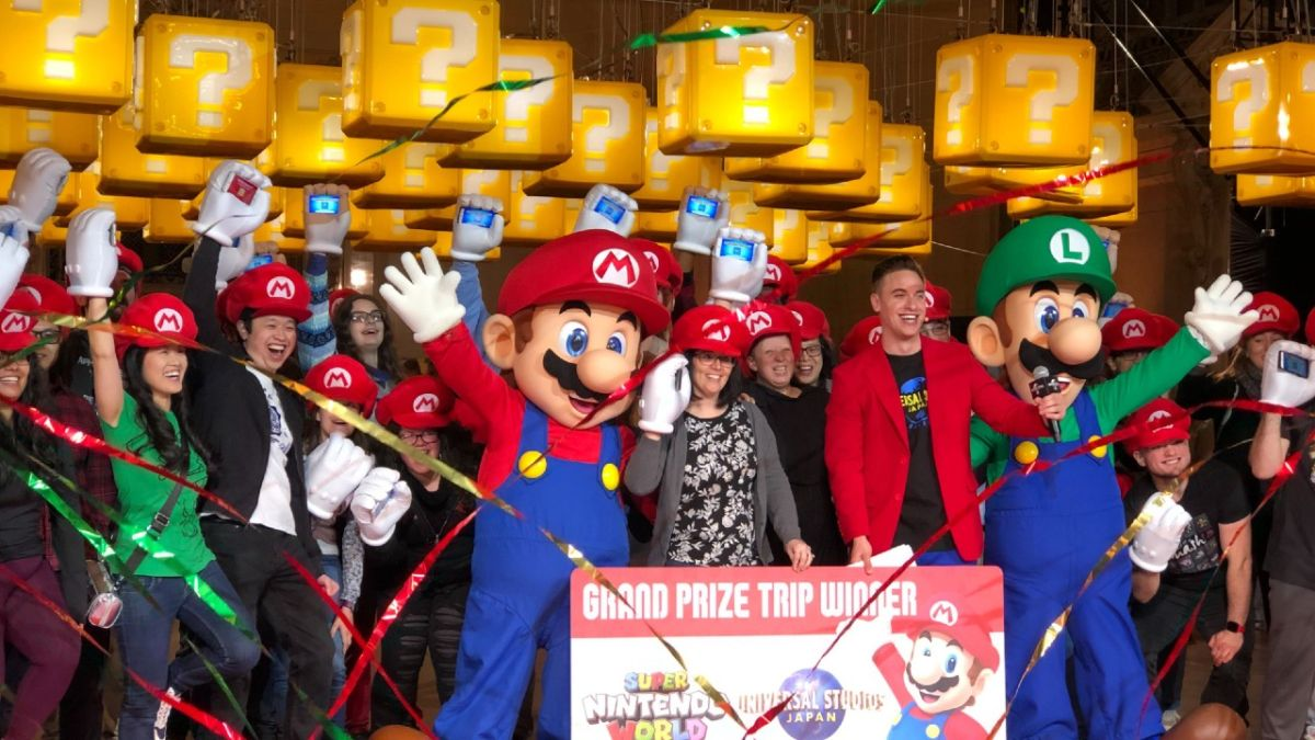 I checked out the Super Nintendo World Challenge where contestants punched Mario blocks to win a trip to the park - GamesRadar+