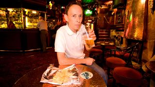 Portrait of BBC Radio DJ Steve Lamacq photographed in London. 23rd October 2007
