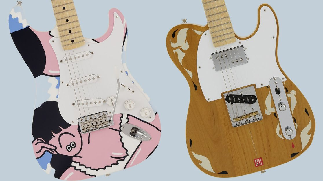 Fender collaborates with Japanese artists FACE and MHAK on pop art-inspired Strat and Tele