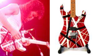 Eddie Van Halen playing a 1986 Kramer Custom