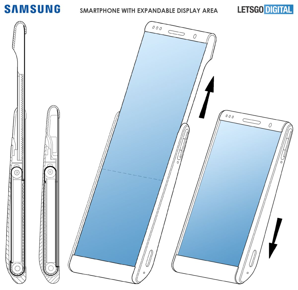 Samsung Patents Weirdest Phone Yet: A Vertical Rollable