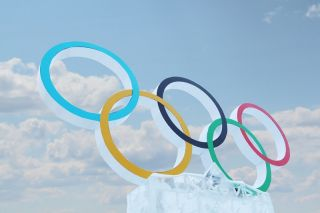 A symbol of the Olympic Games, created for the 2014 Winter Olympics in Sochi.