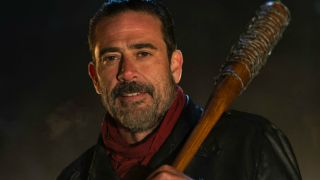 Negan, whose final appearance with Rick was cut from The Walking Dead season 9