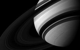 Saturn Rings Black White 1920