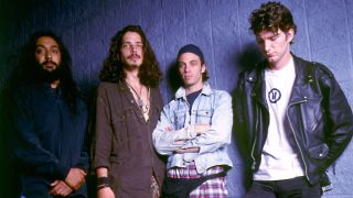 Soundgarden backstage in Chicago 1992