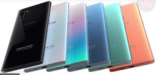 Galaxy Note 10 colors render