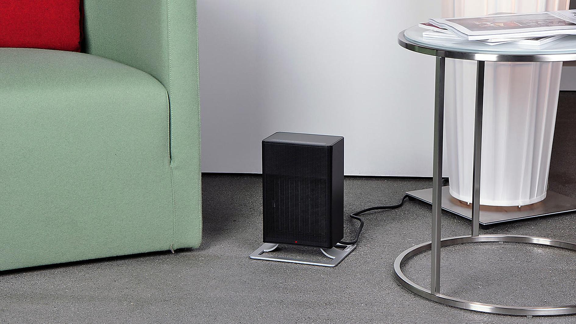Focus heater has a motion sensor that