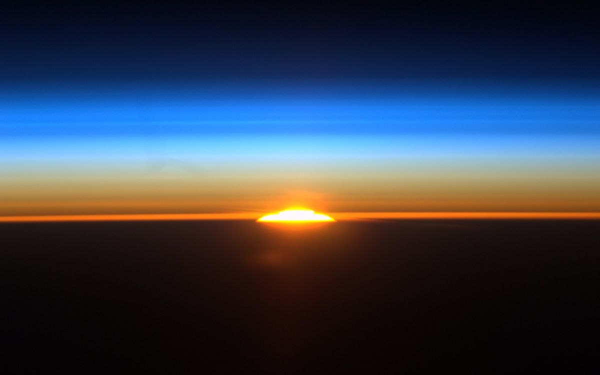 Sunrise Over Buenos Aires Space Wallpaper Space