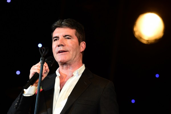 Simon Cowell receiving his Music Industry Trusts Award