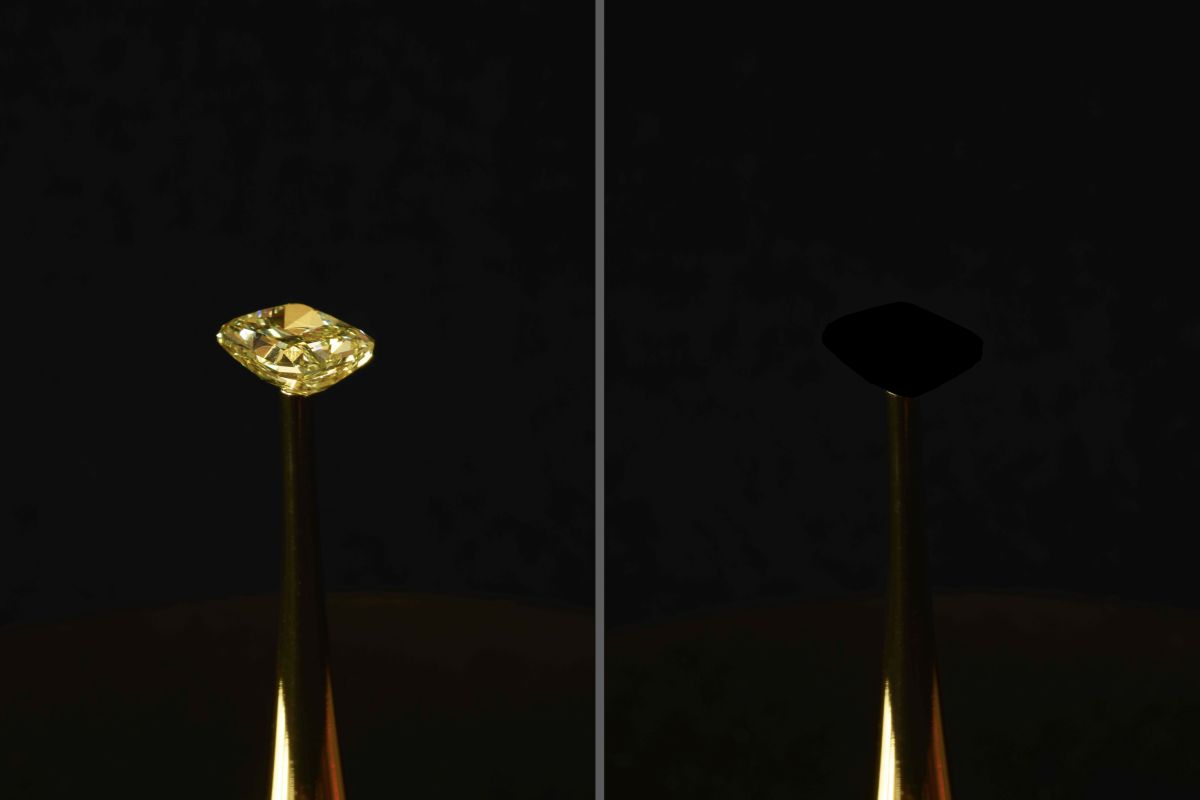 There's a New Blackest Material Ever, and It's Eating a Diamond As We Speak