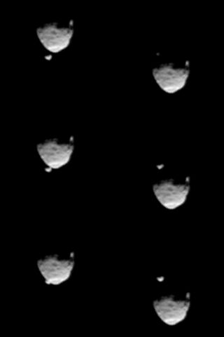 Before and After Occultation of Deimos by Phobos
