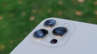iPhone 12 Pro Max rear camera array with LiDAR