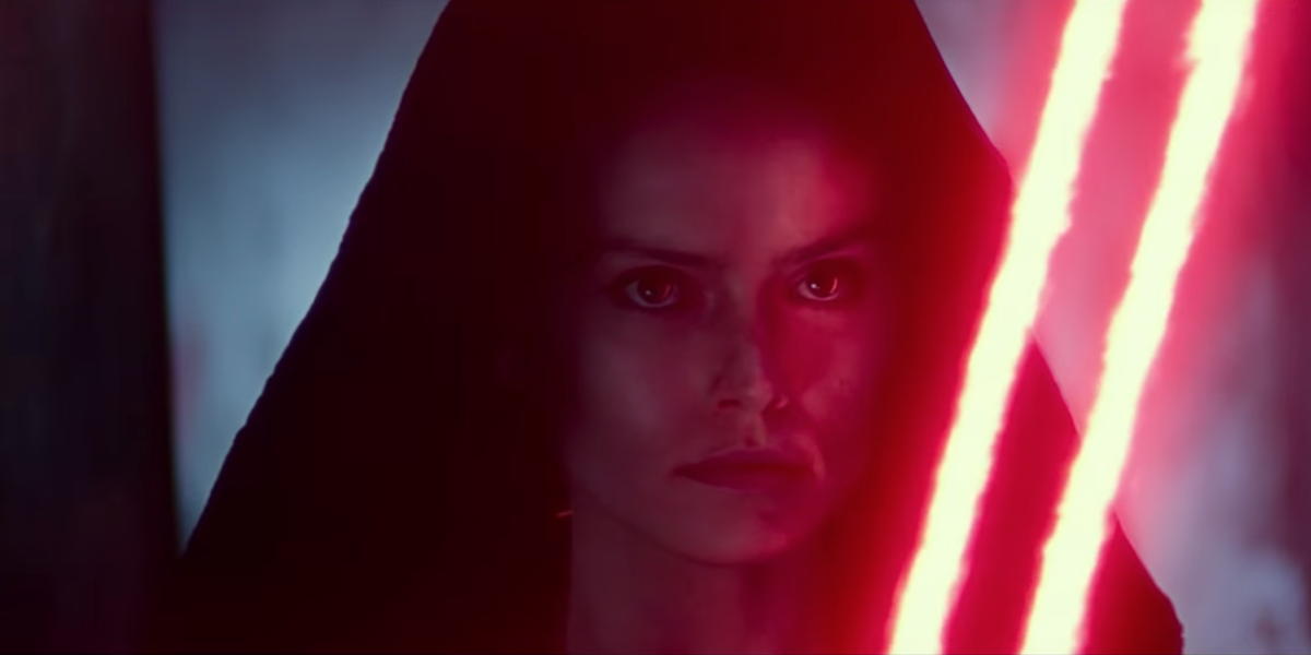 Daisy Ridley as Dark Rey in Star Wars: The Rise of Skywalker
