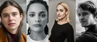 Alison Oliver, Sasha Lane, Jemima Kirke and Joe Alwyn's headshots.